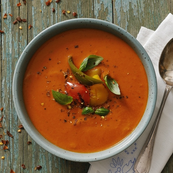 Soup of roasted peppers